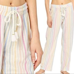 PJ Salvage Washed Ashore Stripe Linen Lounge Pants